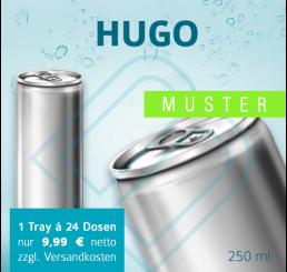 MUSTER 24 x HUGO (ohne Pfand) – Blankodosen 250 ml
