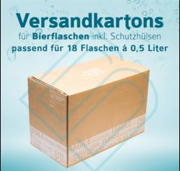 Bierflaschen Versandkartons inkl. Schutzhülsen für 18 Flaschen – 0,5 Liter