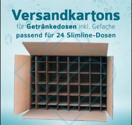 Getränkedosen Versandkartons inkl. Gefache für 24 Slimline-Dosen