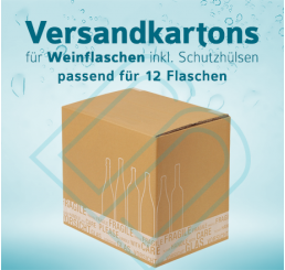 Weinflaschen Versandkartons inkl. Schutzhüllen für 12 Flaschen