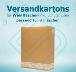 Weinflaschen Versandkartons inkl. Schutzhüllen für 3 Flaschen