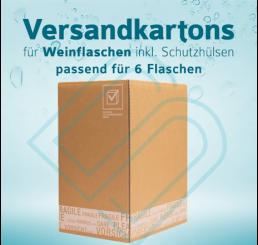 Weinflaschen Versandkartons inkl. Schutzhüllen für 6 Flaschen