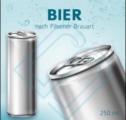 BIER nach Pilsener Brauart – Blankodosen 250 ml (pfandpflichtig)