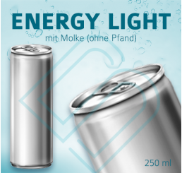 ENERGY DRINK Light mit Molke (ohne Pfand) – Blankodosen 250 ml