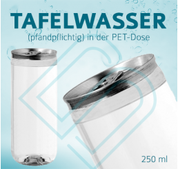 TAFELWASSER (pfandpflichtig) – Blankodosen 250 ml