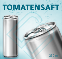 TOMATENSAFT (ohne Pfand) – Blankodosen 250 ml