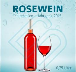 Blanko-Flaschen ROSEWEIN – 0,75 Liter