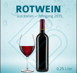 Blanko-Flaschen ROTWEIN – 0,25 Liter