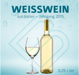 Blanko-Flaschen WEISSWEIN – 0,25 Liter