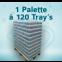 1 Palette mit 120 Trays