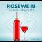 Blanko-Flaschen Rosewein 0,25 Liter