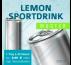 MUSTER 24 LEMON SPORTSDRINK (ohne Pfand) – Blankodosen 250 ml