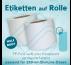 Rollenetiketten weiße oder transparente Folie für 250-ml-Dosen HalfBody